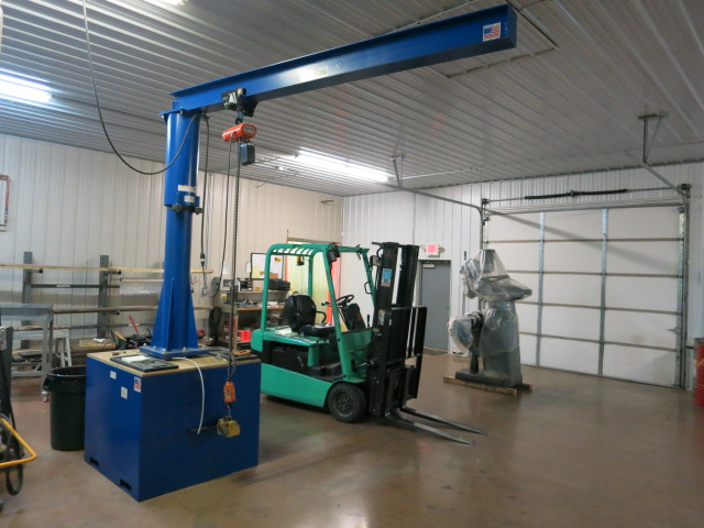 Used Jib Crane Hoist : Machinesused vestil portable capacity jib crane